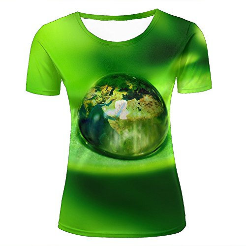 Mens T-Shirts 3D Printed Crystal Clear Large Drops Of Water Graphic Couple Tees D