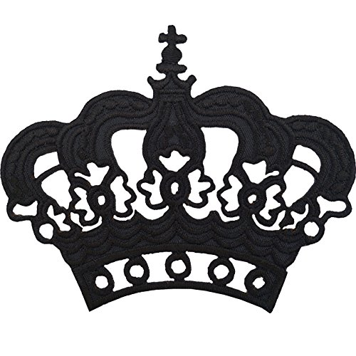Prince Kostüm Fancy Royal Dress - Schwarz Krone Badge Eisen Sew der T-Shirt Hat Fancy Dress Kostüm bestickt Patch