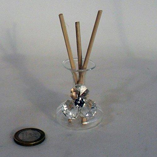Bomboniere profumatore in vetro soffiato di colore bianco con fiore e punto luce completo di scatola