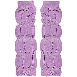 Malloom® Niña rodilleras Calcetines calentador de la pierna (morado)