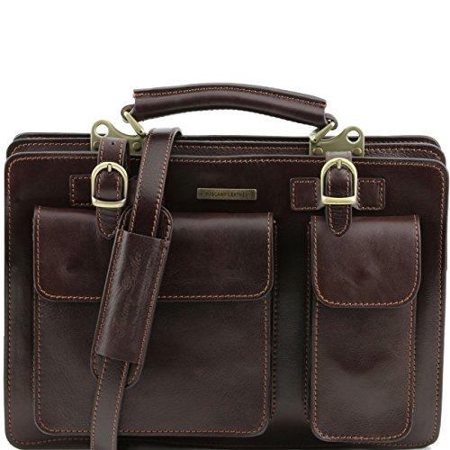 Tuscany Leather Tania Borsa a mano in pelle da donna - Misura grande Miele Testa di Moro