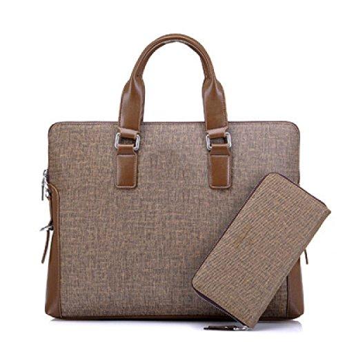 Geschäft Männer Handtasche Häschen Aktenkoffer Männer Schulter Messenger Bag Computer Tasche Khaki