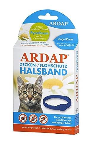 Quiko 077230 Ardap Zecken- und Flohhalsband für Katzen, 35cm