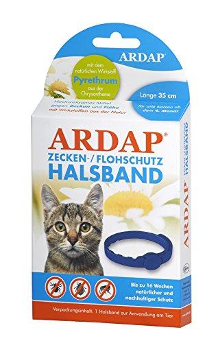 ARDAP Zecken- und Flohhalsband für Katzen, 35cm