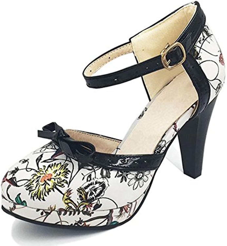 54246b91c89f DoraTasia Women s Fashion Classic Bow- Closed Pointy Toe High High High Heel  - Sweet School Pumps Mary Janes Shoes B07FFQ2SVS Parent ca3ee3