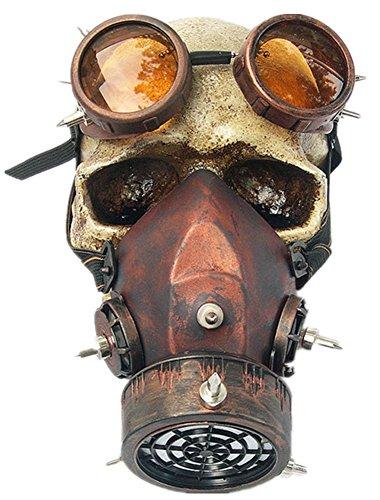Wei zhe Herren und Damen Halloween Masquerade Retro Windschutzscheibe Nieten Gas Maske