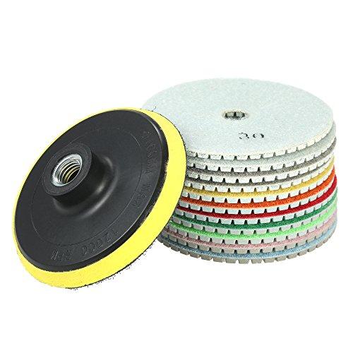 KKmoon 11 stücke 4 Diamant Wet Polierscheiben Schleifscheibe + 1 stück Unterstützung Pad für Granit Marmor Stein Keramikfliesen Beton