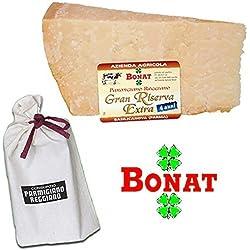 BONAT, Parmigiano Reggiano Dop, invecchiato 4 anni, 1 Kg + sacchetto salvefreschezza