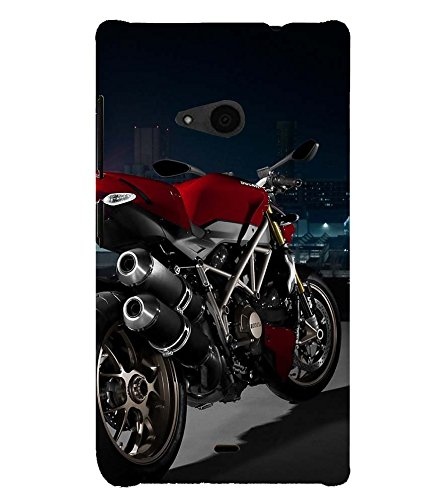 RED Colour Racing Bike ON Display 3D Hard Polycarbonate Designer Back Case Cover for Nokia Lumia 535 :: Microsoft Lumia 535