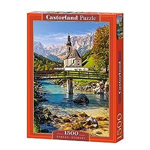 CASTORLAND Ramsau, Germany 1500 pcs Puzzle - Rompecabezas (Germany 1500 pcs, Puzzle Rompecabezas, Paisaje, Niños y Adultos, Niño/niña, 9 año(s), Interior)