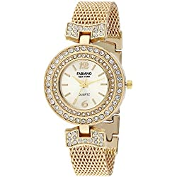 Fabiano New York Analogue Gold Dial Women Watch-Fny086