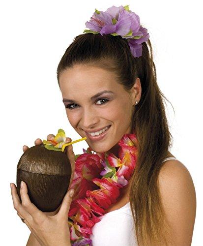 (Kokosnuss-tasse Mit Blume Und Strohhalm)