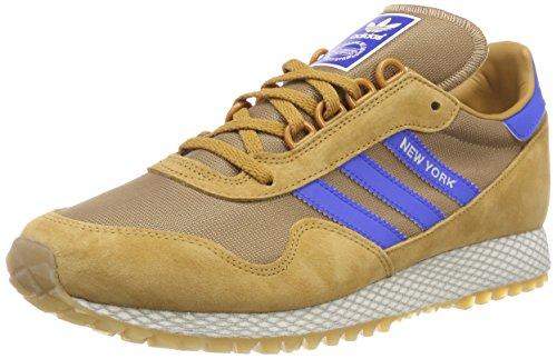 adidas New York, Scarpe da Fitness Uomo, Marrone (Mesa/Carton / Gum2 000), 41 1/3 EU
