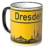 Wandkings® Tasse, Skyline Dresden - SCHWARZ