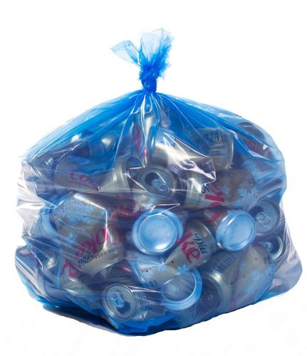 Recyclingbeutel, 33 x 39 cm, 33 Gal, 100 Stück, 1,2 mm, Blau