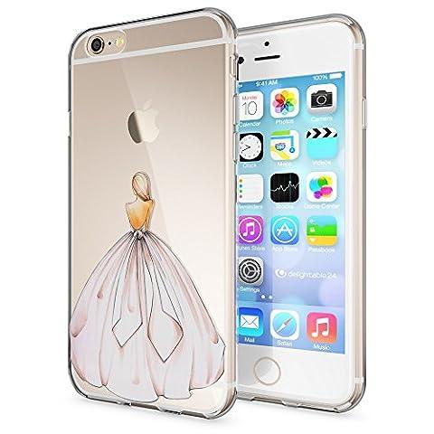 Apple iPhone 6 6S Hülle Handyhülle von NICA, Slim Silikon Case Cover Crystal Schutzhülle Dünn Durchsichtig, Etui Handy-Tasche Backcover Transparent Bumper für i-Phone 6 6S, Designs:Princess Pink