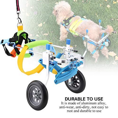 51dvDlv%2BhUL - Silla de ruedas para perros, Rehabilitación de patas traseras Discapacitados Perro asistido Caminan dos ruedas Silla de ruedas ajustable para mascotas para gatos adultos Perros pequeños Chihuahua de P
