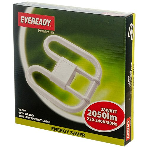 5-x-eveready-energy-saving-light-lamp-bulb-4-pin-240v-cfl-2d-28w-watt