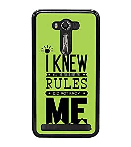 Fuson Designer Back Case Cover for Asus Zenfone 2 Laser ZE550KL (5.5 Inches) (Regulation Knowing Me Self Understanding Law)