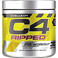 CELLUCOR C4 RIPPED POWDER ULTRA FROST FLAVOR 180 GRAMS 30 SERVINGS