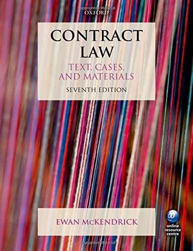 Contract Law Text, Cases and Materials 7/e