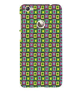 PrintVisa Square Angular Pattern 3D Hard Polycarbonate Designer Back Case Cover for LeEco Le 1s :: LeEco Le 1s Eco :: LeTV 1S