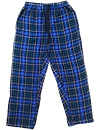 Twist Men's Blue And Navy And Green Checked Cotton Pyjama Sleepwear Night Wear With Contrast & Free Shipping