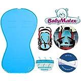 Baby Matex–Aero Line Asiento Asiento para/paddi–de Air Flow–de Universal para portabebés, asiento de coche, por ejemplo para maxi-cosi, Römer, para carrito, Buggy, Trona etc. Aqua/turquesa