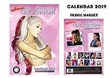 ARIANA GRANDE CALENDRIER 2019 + ARIANA GRANDE AIMANT DE RÉFRIGÉRATEUR
