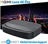4K Projector, LiveTV.Direct Enhanced for XGIMI Lune4K Super Short Focus Android 3D Smart Laser TV Native 4K UHD Home Theater Projector Built-in 60W Harman/Kardon HiFi Speaker