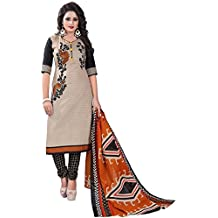 Om Tex Creation Women's Clothing Cotton Dress Material Unstitched With Cotton Dupatta