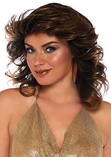 Leg Avenue Damen Farrah Feathered Wig Panamahut, Braun (Brown), (Herstellergröße: One sizeUk 6-12)