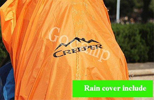 80L Professionelle Outdoor-Klettern Rucksack-Schulter-Wandern Wasserdicht Männer und Frauen Reise-Camping Bergsteigen Tasche Green