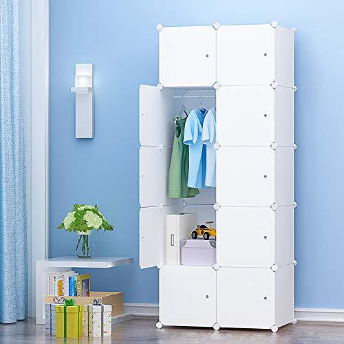 Premag armadio portatile per appendere i vestiti, ripostiglio modulare per risparmio di spazio (10-cubo, extra sticers incluso)