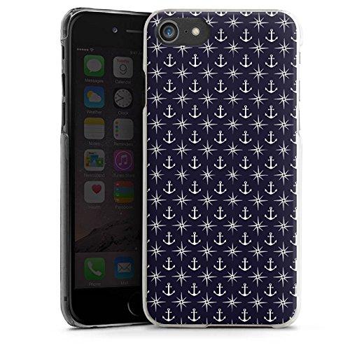 Apple iPhone X Silikon Hülle Case Schutzhülle Anker Kompass Muster Hard Case transparent