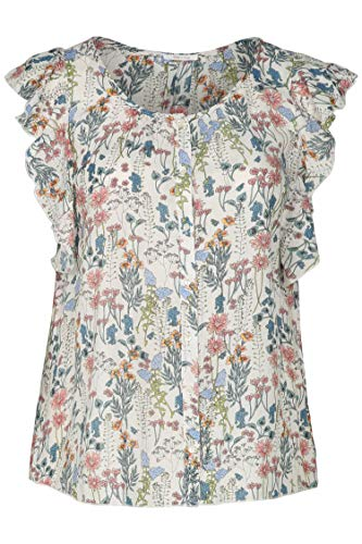 PAPRIKA Damen große Größen Bluse mit Herbarium-Print rosa 5 (52)