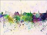 Posterlounge Forex-Platte 160 x 120 cm: Riga-Skyline von Editors Choice