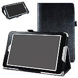 BQ Aquaris M8 Funda,Mama Mouth Slim PU Cuero Con Soporte Funda Caso Case para 8.0' BQ Aquaris M8 Tablet PC,Negro