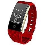 SLGJYY Herzfrequenz-Gesundheits-Monitor Bluetooth Sport-Schritt-Zähler-Abnutzungs-Informations-Alarm Wasserdichtes Intelligentes Armband