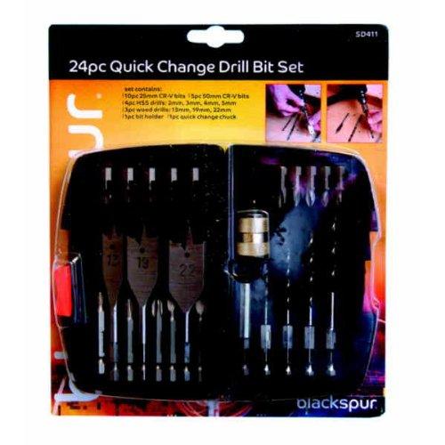 blackspur-bb-sd411-quick-change-drill-bit-set