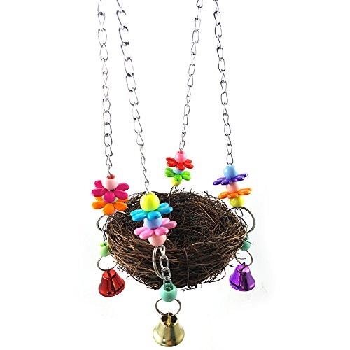 ukallaite Vogelkäfig Hängematte Swing Ständer zum Aufhängen Spielzeug für Pet Parrot Sittiche Nymphensittiche