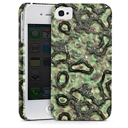 Apple iPhone X Silikon Hülle Case Schutzhülle Slime Grün Abstrakt Premium Case glänzend