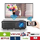 WIKISH HD Android proiettore LCD con Bluetooth wireless WiFi video proiettore Home Cinema teatro
