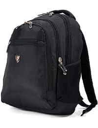 38,1 cm 40,64 cm Laptop ipad mochila A4 College senderismo mochila para equipaje de mano negro Talla:carry-on