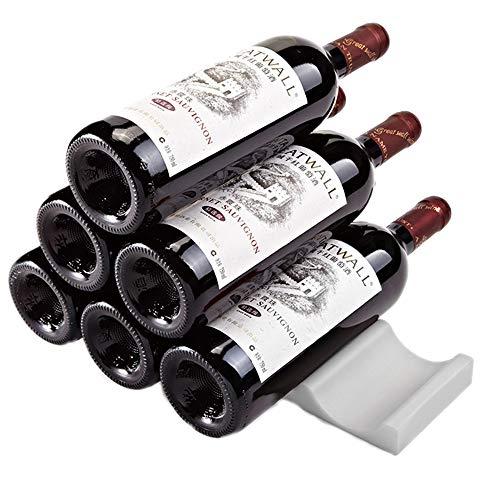 JASNO Countertop-Wein-Gestell-Silikagel-Getränk und Cocktail-Regal Für Lagerung und Anzeige Halten Sie Bis 10 Flaschen,Gray