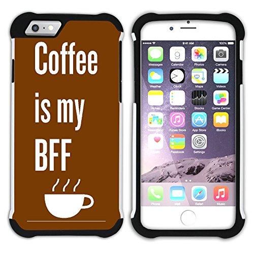 Graphic4You Kaffee Tasse Koffein Hart + Weiche Kratzfeste Hülle Case Schale Tasche Schutzhülle für Apple iPhone 6 Plus / 6S Plus Design #22