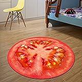 LFF.FF Tappeto circolare Computer moquette tappezzeria in camera da letto rotondo scendiletto il tappeto per il soggiorno-B DIAMETRO60cm(24poll.)