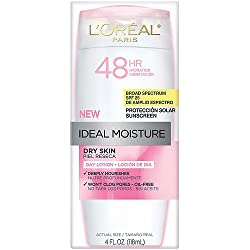 LOreal Paris Ideal Moisture Dry Skin Sunscreen Lotion, SPF 25, 4 fl oz