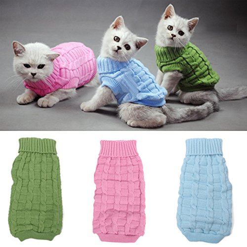 Solid Color Haustier Hund Katze atmungsaktiv Warme Pullover Winter-Outwear Gestrickte