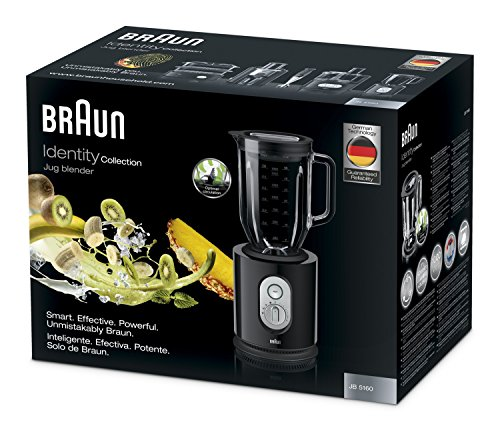 Braun IdentityCollection JB 5160 Standmixer, 1.000 W, 22.500 U/min, ThermoResist Glas-Mixbehälter (1,6 l), schwarz